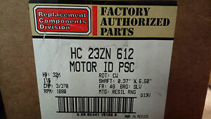 New Carrier Replacement Hvac Fan Motor Hc23zn612 115v 1 30hp Cw