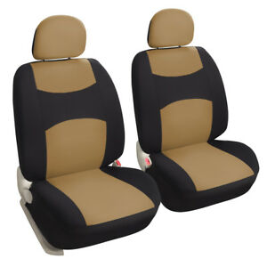 Tan Universal Car Seat Covers Set For Truck Suv Front Rear Seat Protector
