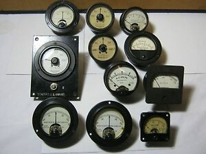 Analog Readout Meter Lot Vintage Electronics Parts Western Electric Sangamo