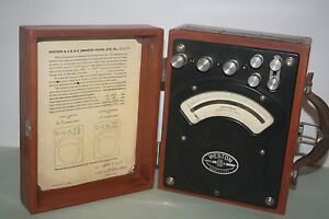 Weston Model 370 Ammeter In Wooden Case