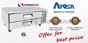 Atosa Mgf8451 52 Commercial Restaurant 2 Drawer Refrigerated Chef Base