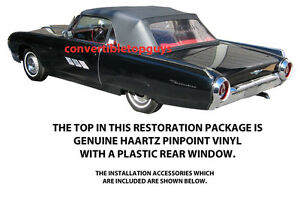 Ford Thunderbird Convertible Top Do It Yourself Package 1961 1963