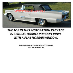 Ford Thunderbird Convertible Top Do It Yourself Package 1958 1960