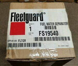 2 Fleetguard Fuel water Seperators Part Fs19540