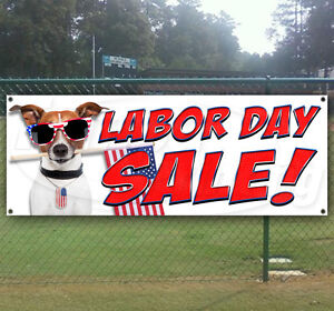 Labor Day Sale Advertising Vinyl Banner Flag Sign Many Sizes Available