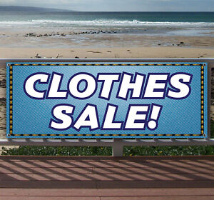 Clothes Sale Advertising Vinyl Banner Flag Sign Many Sizes Available Usa