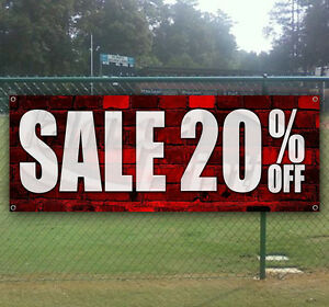 20 Off Sale Advertising Vinyl Banner Flag Sign Many Sizes Available Usa