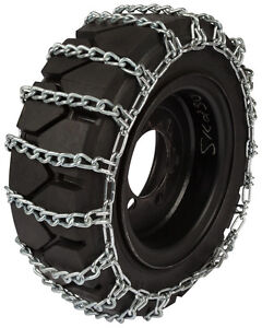 7 50 16 Forklift Tire Chains 8mm 2 link Spacing Hyster Lift Truck Snow Traction
