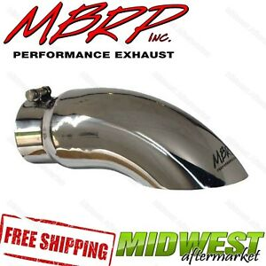 T5086 Mbrp Stainless Steel Exhaust Turn Down Tip 4 Inlet 5 Outlet 12 Long