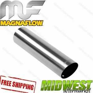 35101 Magnaflow Exhaust Tip Angled Cut Single Wall Straight 3 Inlet 3 Outlet