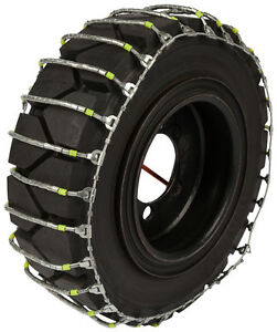 7 00x15 Forklift Cable Tire Chains Hyster Lift Truck Snow Ice Traction