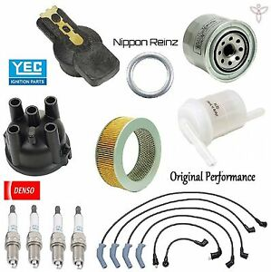 Tune Up Kit Wire Plugs Filters Cap Rotor For Mitsubishi Montero 1987 1988