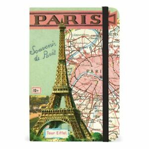 Cavallini Small Lined Pocket Notebook 4x6ins Vintage Paris 256 Pages