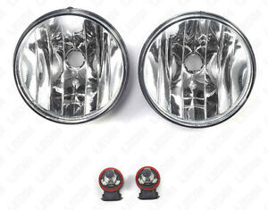 For 2007 2013 Gmc Sierra 1500 2500hd 3500hd Clear Fog Lights W Bulbs Left Right