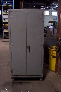 Stronghold Heavy Duty Locking Cabinet 36 Long X 24 Wide X 78 High 4 Shelf