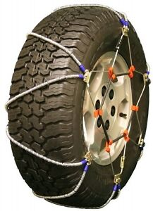 8 75 16 5 8 75r16 5 Volt Lt Cable Tire Chains Snow Traction Suv Light Truck Ice