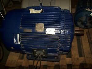 Rebuilt Westinghouse 60 Hp Ac Electric Motor 405ts Frame 460 Vac 1175 Rpm Tefc