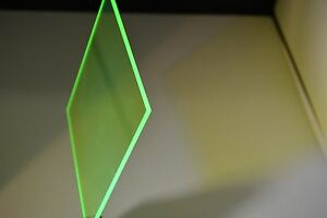 Green Fluorescent Plexiglass Acrylic Sheet 1 4 X 24 X 24
