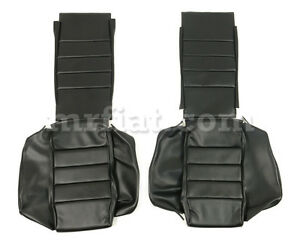 Alfa Romeo Alfetta Gtv Gtv6 Black Vinyl Seat Covers Set New