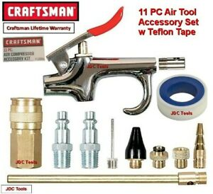 Craftsman 11 Pc Air Compressor Accessory Kit Set With Storage Pouch