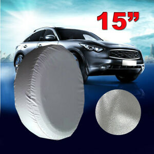 15 Spare Tire Cover Wheel Protection Silver For Toyota Rav4 Tire Cover 28 29