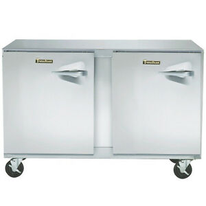 Traulsen Ult48 ll 48 Two Section Undercounter Reach in Freezer Hinged Left