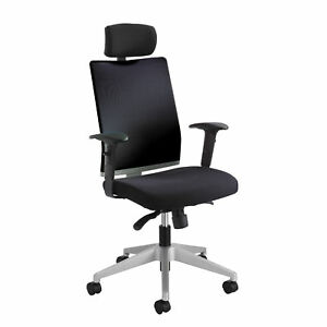 Tez Manager Chair With Headrest Black 1 Ea