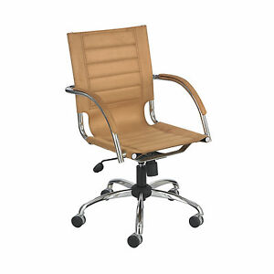Flaunt Managers Chair Camel Micro Fiber Camel 1 Ea