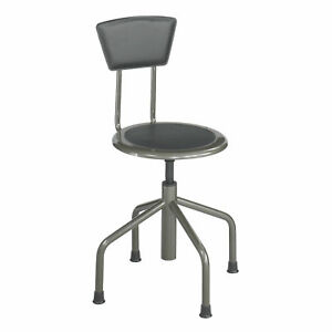 Diesel Low Base Stool With Back Pewter 1 Ea