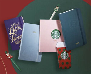 Korea Starbucks 2020 Diary Planner Pink Green Light Blue Purple free Gift