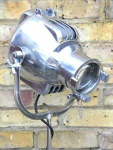 Vintage Theatre Film Spot Light Studio Floor Standing Lamp Art Deco Strand 23
