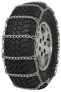 235 75 15 235 75r15 Tire Chains 5 5mm Link Non cam Snow Traction Suv Light Truck