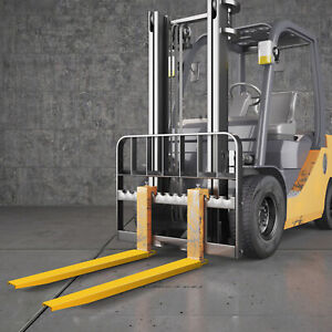 84x5 8 Forklift Pallet Fork Extensions Pair Firmly Slide Clamp Lifting