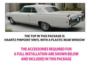 Cadillac Eldorado Deville Convertible Top Do It Yourself Package 1961 1963