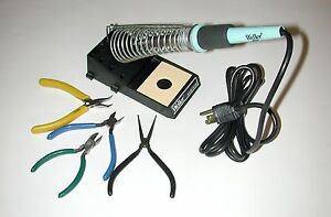 Weller W60p Soldering Iron With Stand And Assorted Tools