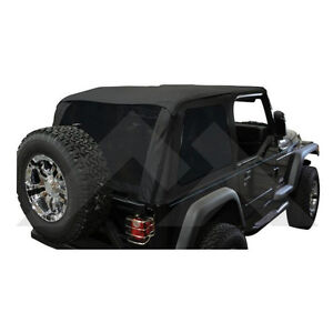 Bowless Soft Top Black Diamond With Tint For Jeep Wrangler Tj 1997 2006 Brt10035