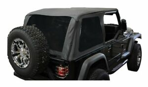 Bowless Soft Top Black Diamond Jeep Wrangler Yj 1992 1995 Brt10135t