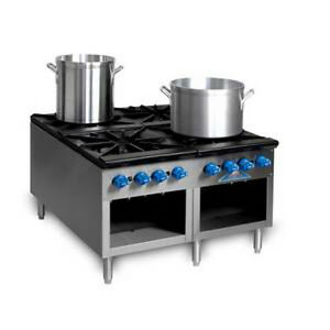 Comstock Castle 2csp36 36 Stock Pot Gas Range 360 000 440 000 Btu