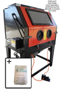 New Redline Re70 Abrasive Sand Blasting Blaster Blast Cabinet Glass Bead Media