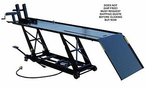 New Titan 1000 Lb Motorcycle Lift Lifting Service Work Table Vise Dropout Panel