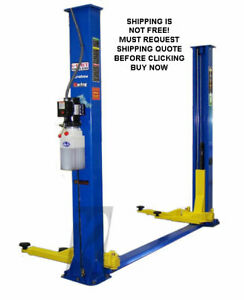 New Titan 9000 Lb 9k 2 Two Post Auto Automotive Asymmetric Floor Plate Lift