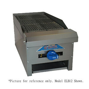 Comstock Castle Elb18 18 Countertop Gas Charbroiler With 2 Manual Controls
