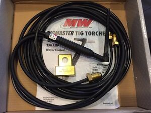 Masterweld 20f 12 s tigmaster Torch Water cooled 250amp Flexible Head Usa