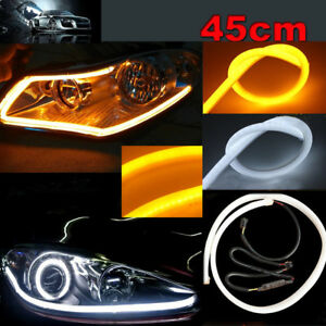2x 45cm Illuminate White Amber Switchback Led Strip Lights Headlight Side Glow