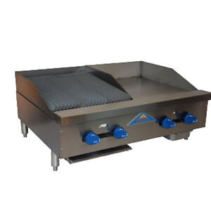 Comstock Castle Fhp36 18 1 5lb 36 Gas Griddle charbroiler Lava Rock Radiants