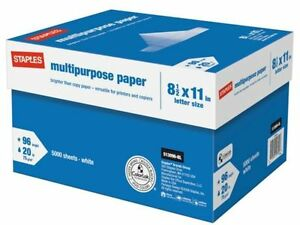 new Staples Multipurpose Copy Printing Paper 10 ream Case 5000 Sheets Sealed