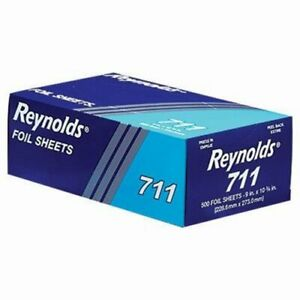 Reynolds Pop up Interfolded Aluminum Foil Sheets 9 X 10 3 4 500 box rfp711