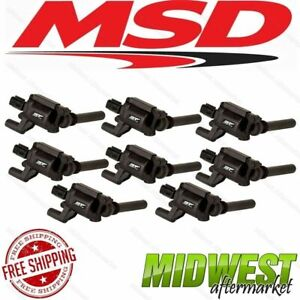 Msd Ignition Street Fire Coils 8 pack For 03 05 Dodge 5 7l Hemi