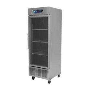 Fagor Qvr 1g One Section Reach in Refrigerator With Glass Door 24 5 Cu Ft