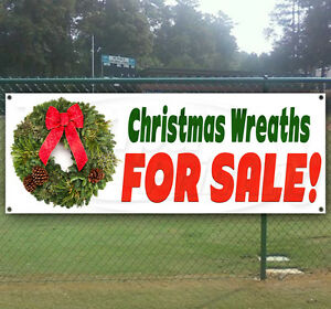 Christmas Wreaths For Sale Advertising Vinyl Banner Flag Sign Many Sizes Usa